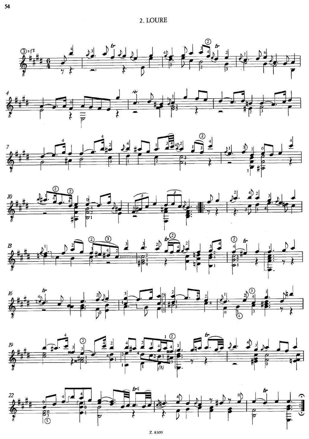 路尔舞曲,巴赫无伴奏小提琴奏鸣曲与组曲 1006a